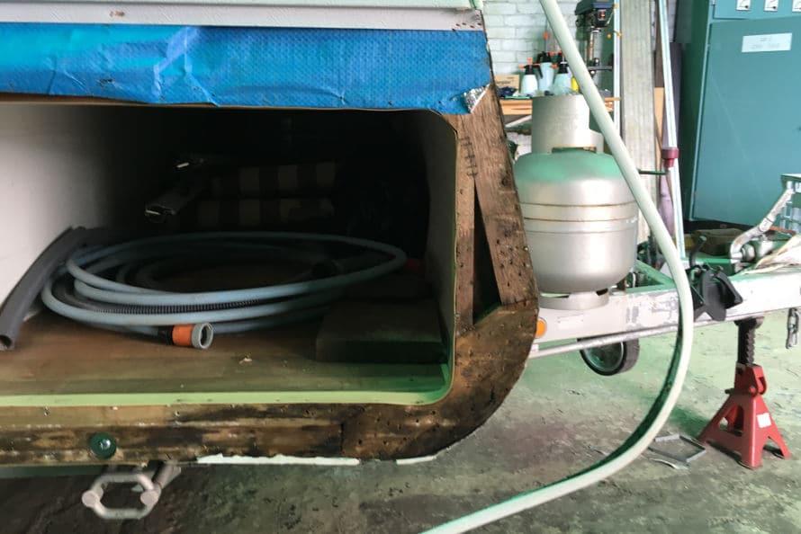 caravan insurance repairs - water damage to body