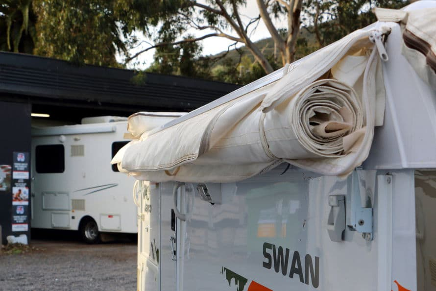 caravan repairs - canvas and awnings
