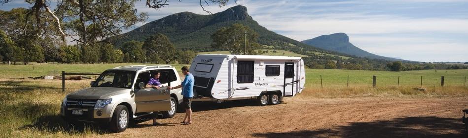 Caravan electrics allow you to go off-road.