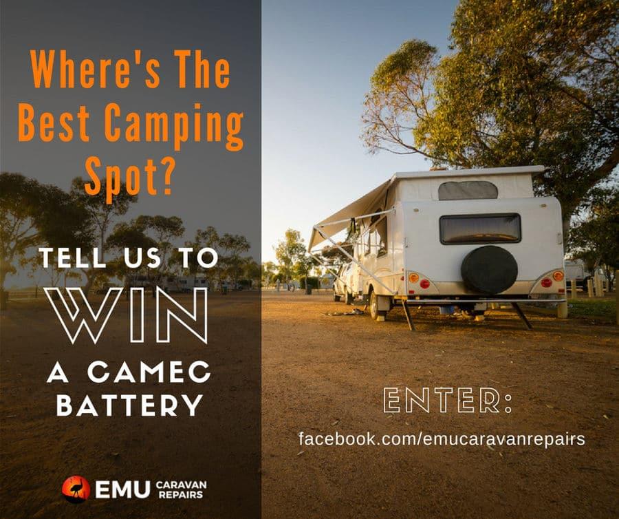 Emu Caravan Repairs Camec battery Competition