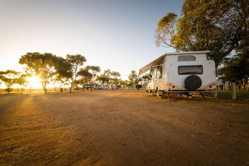 evening caravan spot