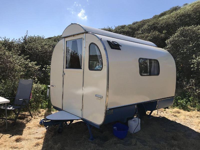 caravan and camping holiday