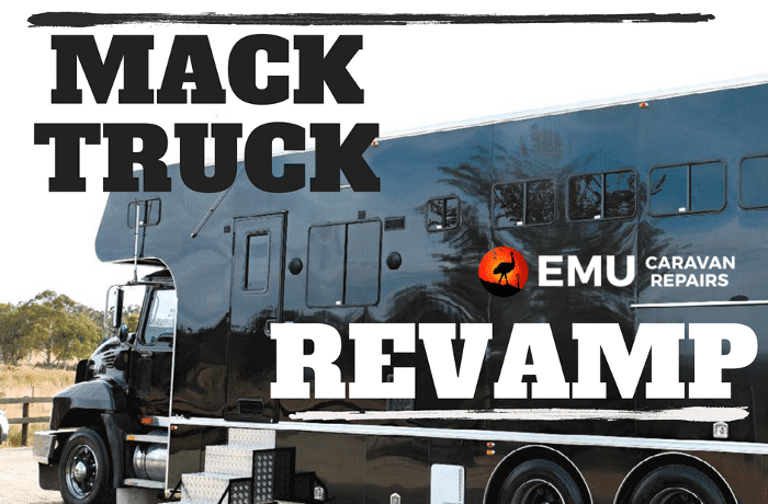 Mack truck conversion to horse transport vehicle