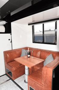 dining area luxury horse transport vehicle