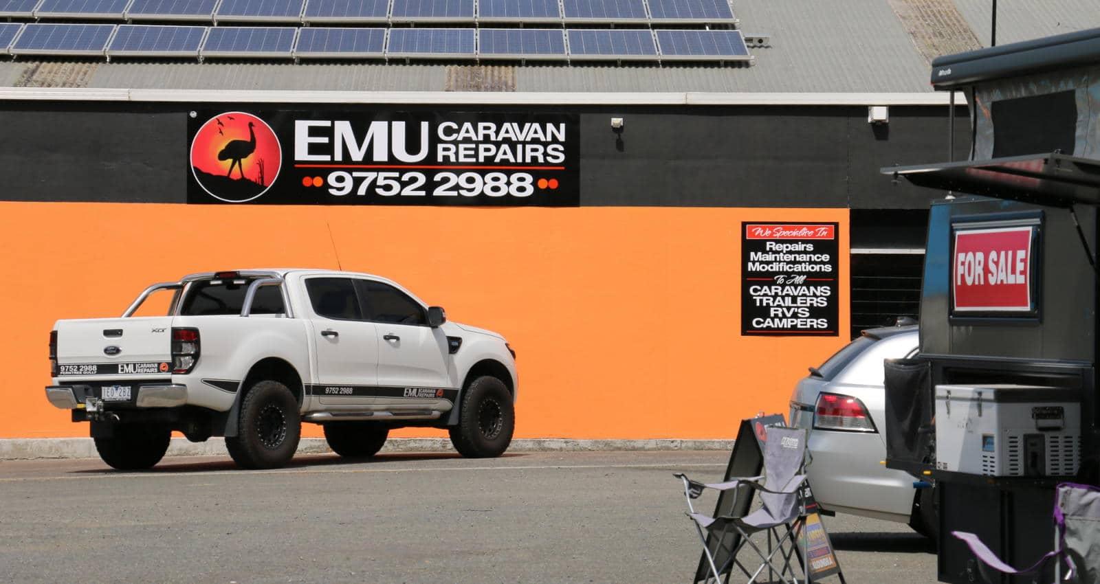 Outside Emu Caravan Repairs Melbourne-1600X850