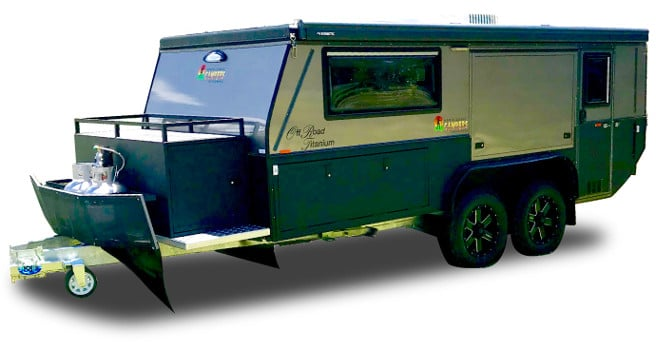 15ft tandem offroad camper trailer