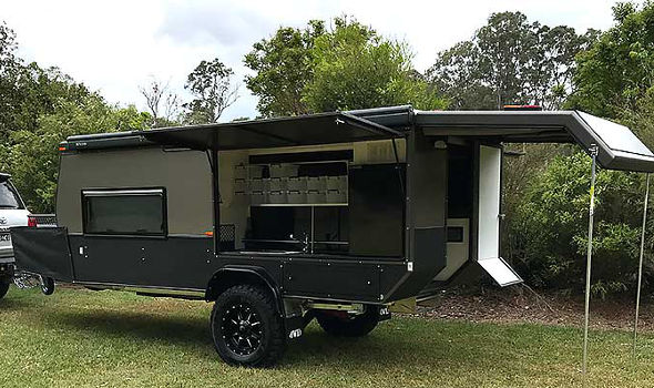 sniperX offroad camper trailer side rear