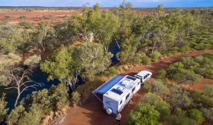 caravan automation camping outback australia