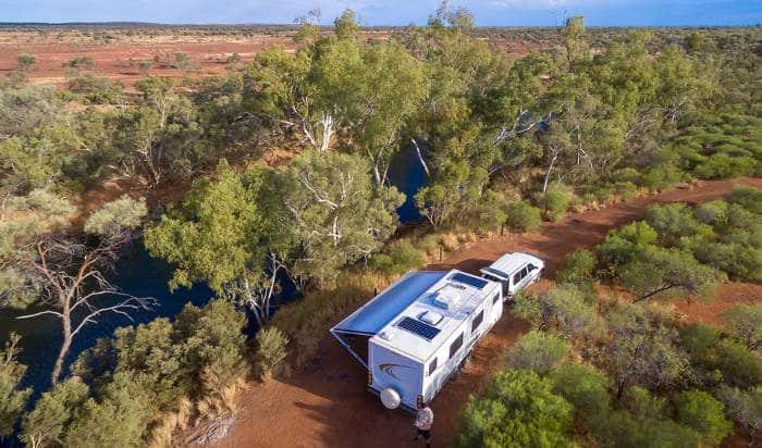 caravan automation camping outback australia